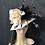 Thumbnail: Dusty rose vintage felt Fifi with black