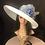 Thumbnail: White straw Tiffany with nautical polkadot