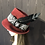 Thumbnail: Burgundy fur felt Trilby with black and silver