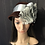 Thumbnail: Burgundy fur felt Amelia with gray