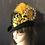 Thumbnail: Black wool felt rider with a leopard flower