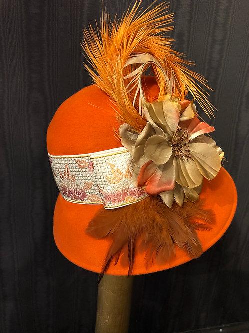 Orange Vintage felt Coco