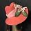 Thumbnail: Peach Vintage Felt Ingrid Fedora with Velvet Iris
