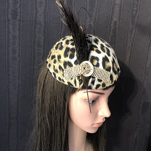 Leopard Cap with crystals