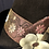 Thumbnail: Chocolate fur felt rider with leather flowers