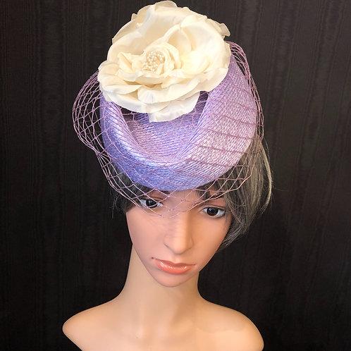 Lavender Straw Scottie with Net
