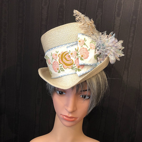 Ivory Straw English Rider with Pastels