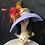 Thumbnail: Lavender fur felt oversized bonnet with floral