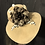 Thumbnail: Camel fur felt bonnet with chocolate