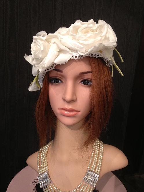Headband with crochet lace