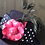 Thumbnail: Navy felt Annie with pink leather rose