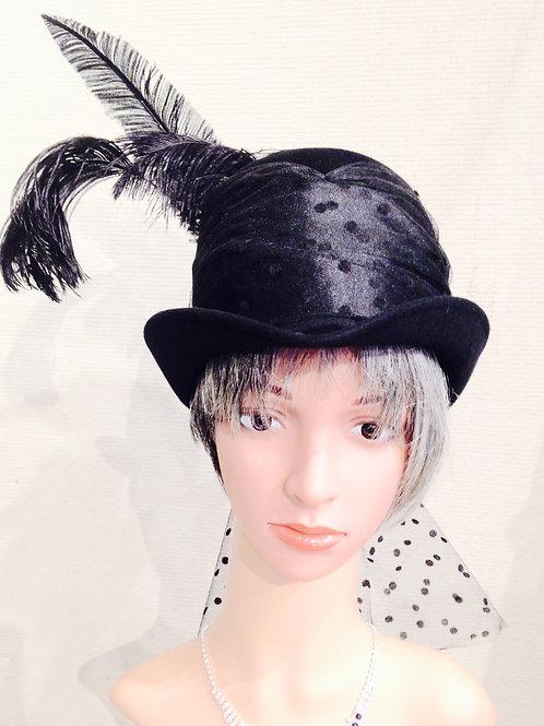 Black felt Riding Hat