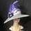 Thumbnail: Silver braid straw Bonnet with the lilac