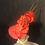 Thumbnail: Ruby red braid straw Kimberly with crystals