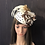 Thumbnail: Black and white polkadot mini cap with vintage Beal feathers and two-tone