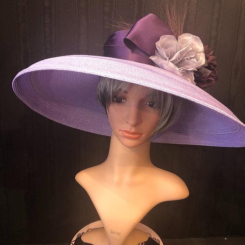 Lavender Straw Tiffany with Aubergine
