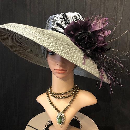 Grey straw Tiffany with purple creation
