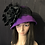 Thumbnail: Vibrant purple vintage felt cloche with black lace