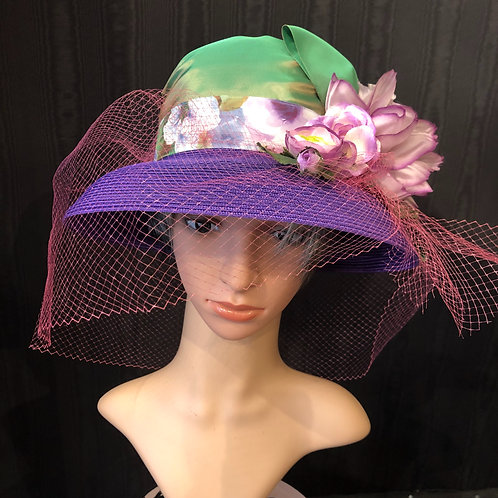 Purple Straw Coco with Netting