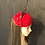 Thumbnail: Red velvet mini cap with vintage feathers