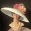 Thumbnail: White straw Tiffany with salmon seersucker flower