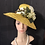 Thumbnail: Canary yellow honeycomb knotted sisal slope brim