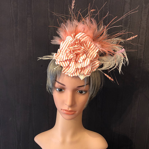 Pink Seer Sucker Fascinator