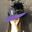 Thumbnail: Royal Purple Vintage Felt Ingrid with Black Lace
