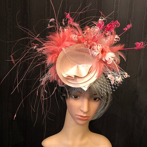 Pink Cotton Candy Fascinator