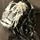 Thumbnail: Gray felt Tiffany with snake ribbon