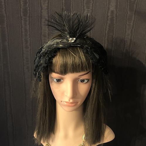 Vintage feather black swan crown