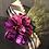 Thumbnail: Black felt oversized Coco with peacock