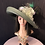 Thumbnail: Olive green straw Tiffany with peacock