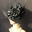 Thumbnail: Black Braid Straw Coco with Polka Dots