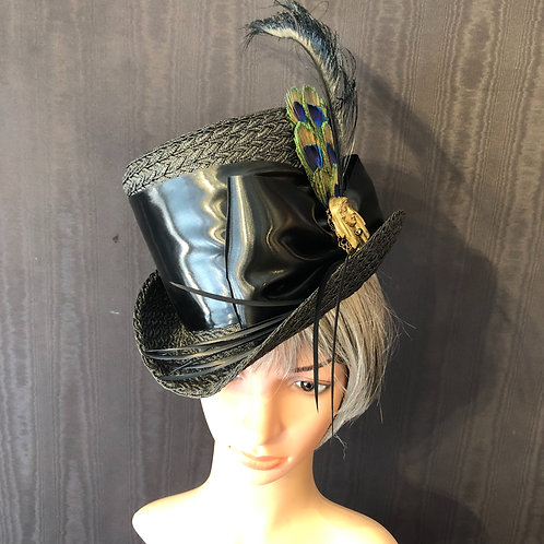 Black Straw Rider with Deco Broach
