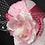 Thumbnail: Light pink straw cloche with chiffon