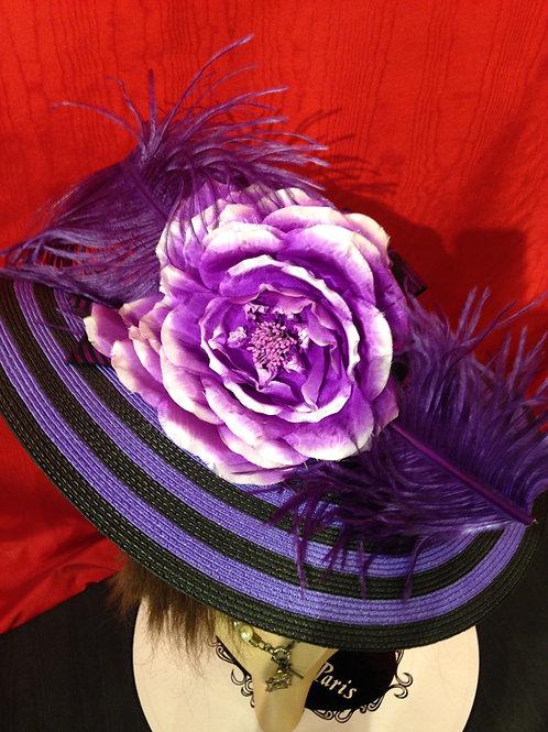 "Purple and black stripe 5"""