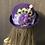 Thumbnail: Royal purple vintage felt Bonnie with peacock