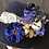 Thumbnail: Navy fur felt Amelia with brocade ribbon