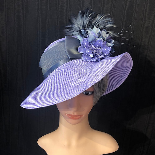 Lavender straw Ingrid with silver