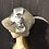 Thumbnail: Taupe vintage felt Louise with silver