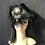 Thumbnail: Black fur felt Fifi with gold Greek key