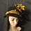 Thumbnail: Chocolate fur felt Trilby with black and gold