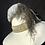 Thumbnail: Winter white fur felt Garbo with gold