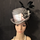 Thumbnail: Pink and black striped straw riding hat