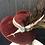 Thumbnail: Burgundy fur felt Garbo with garfish scales