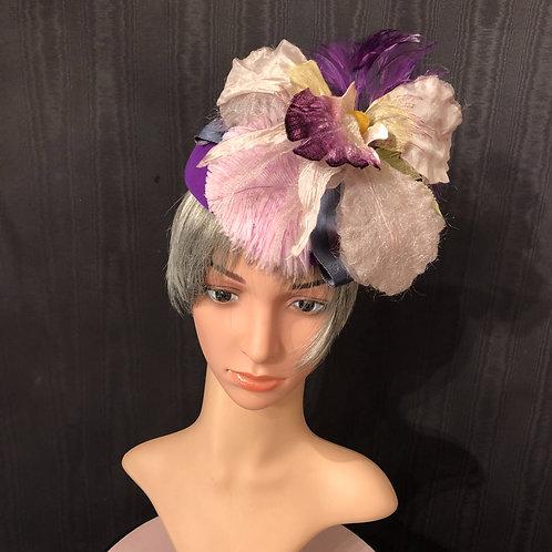 Royal Purple Felt Scottie with Orchid