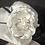 Thumbnail: White straw Ingrid with black edged camellia
