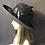 Thumbnail: Black fur felt Annie with art deco pendant