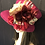 Thumbnail: Fuchsia vintage felt mad hatter with iridescent roses